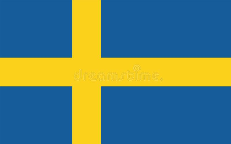 Szwecja flaga wektor royalty ilustracja