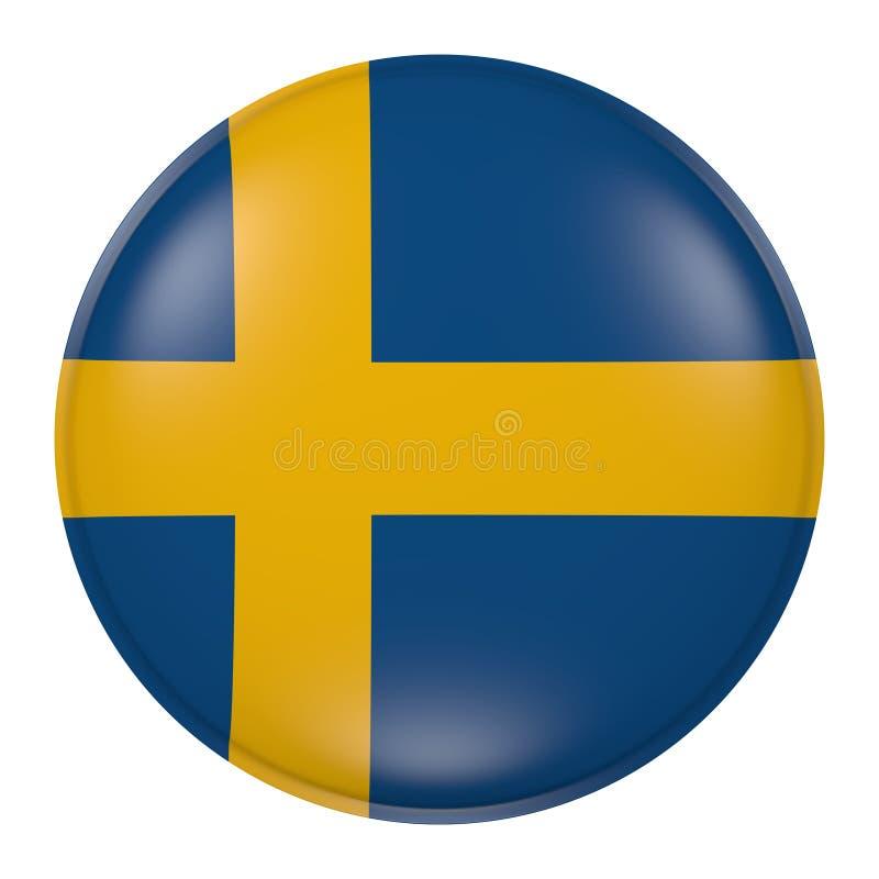 Szwecja guzik ilustracji