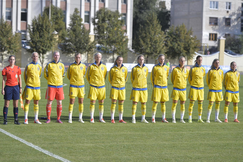 Szwecja kobiet krajowa drużyna futbolowa obrazy royalty free