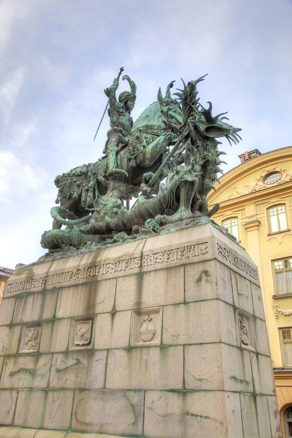 Szwecja miasto Stockholm Święty George zdjęcie royalty free