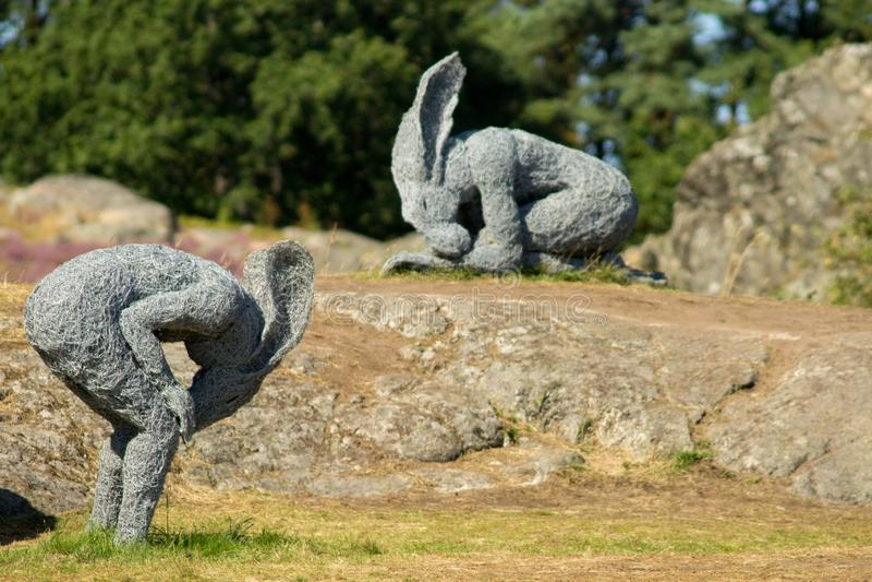 Szwecja, Skulptur ja Pilane zdjęcia stock