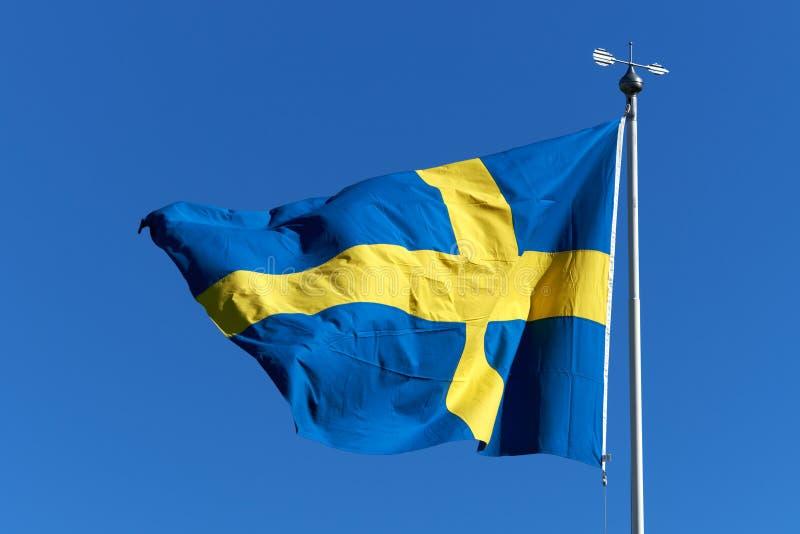 Szwedzi flaga obrazy royalty free
