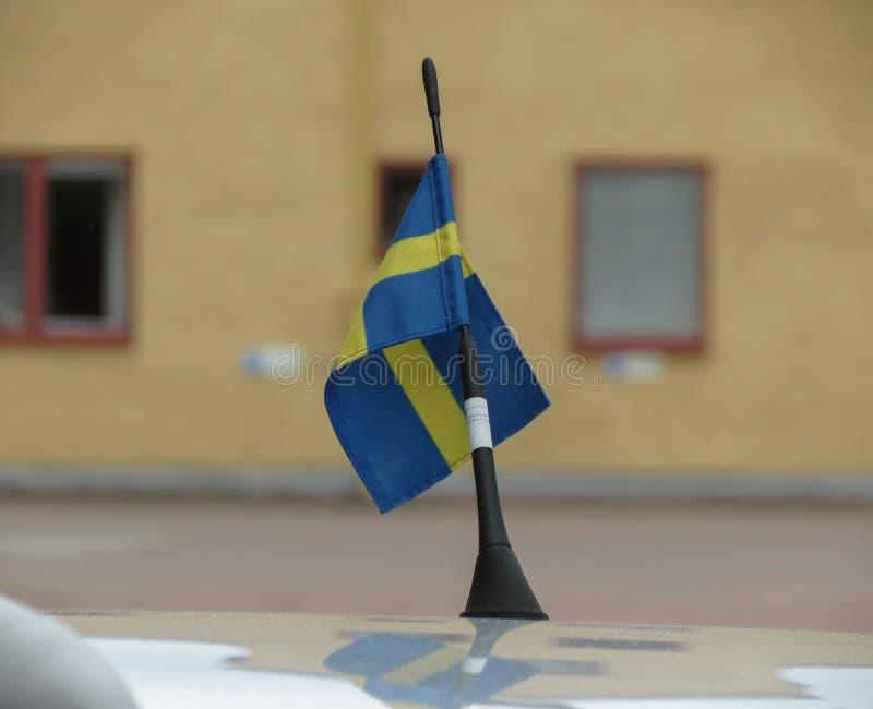 Szwedzi flaga Szwecja zdjęcia stock