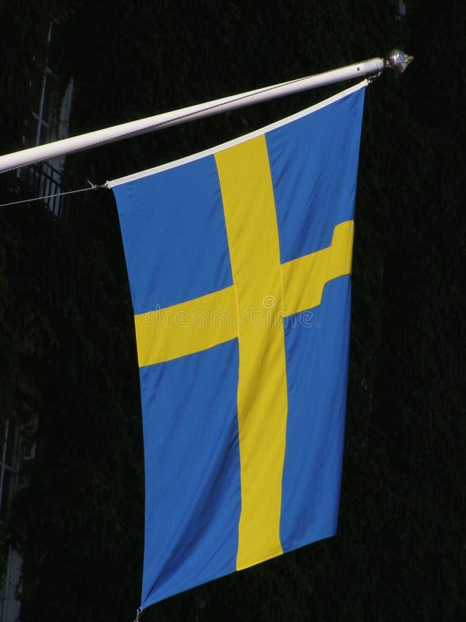 Szwedzi flaga Szwecja obrazy royalty free