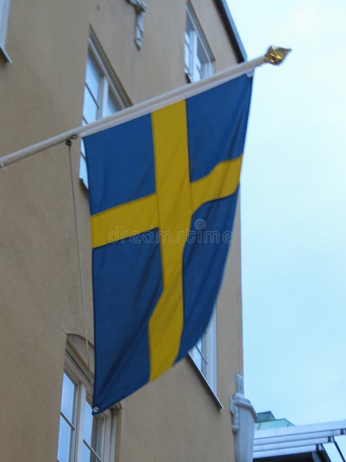 Szwedzi flaga Szwecja zdjęcie stock