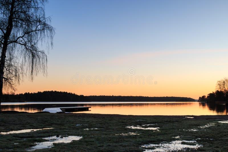 Szwedzi kształtują teren z jetty i wodą zdjęcie stock