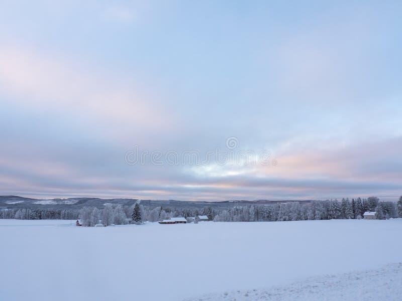 Szwedzi Lapland W zimie fotografia stock