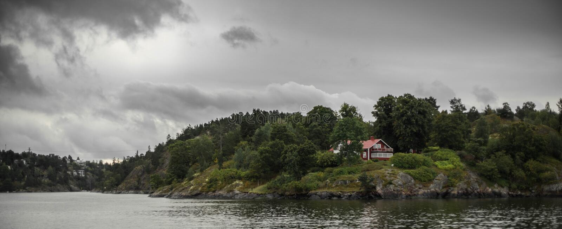 Szwedzi mieścą na brzeg zdjęcia royalty free