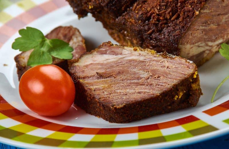 Szwedzi piec marynująca wołowina obraz royalty free