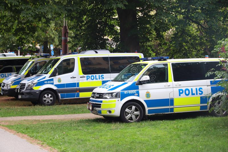 Szwedzi policja fotografia royalty free