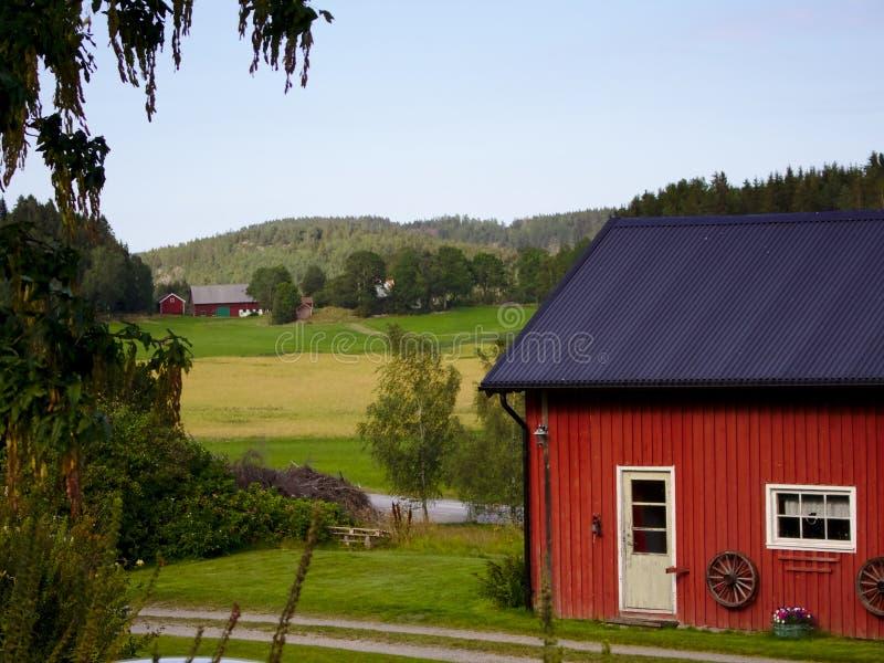 Szwedzi stwarzają ognisko domowe w Bohuslän zdjęcia stock