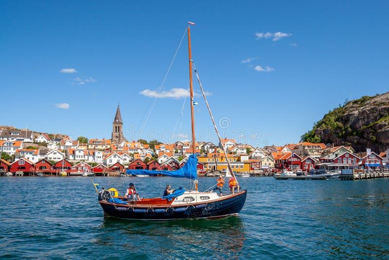 Szwedzka nabrzeżna wioska Fjallbacka obrazy royalty free