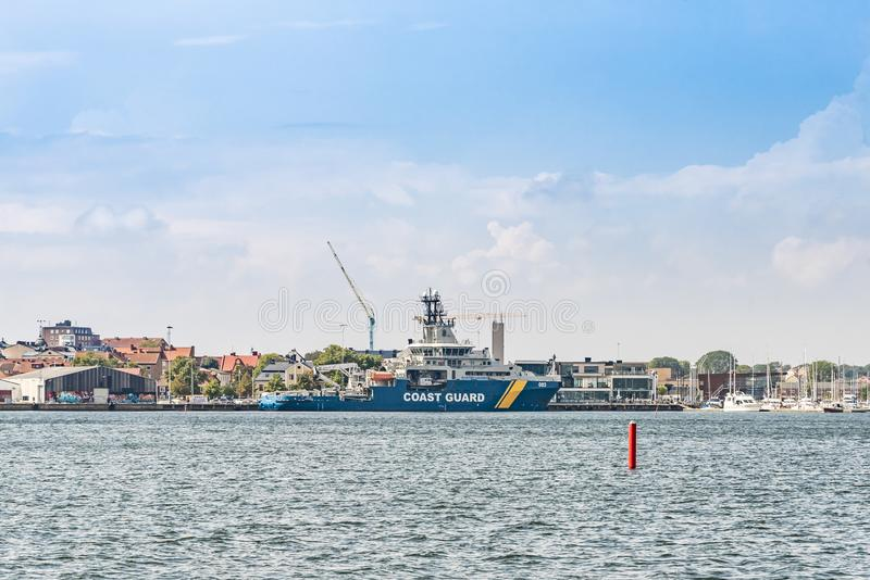 Szwedzka straż przybrzeżna Wielo- Zamierzać naczynie KBV 003 Amfitrite fotografia stock