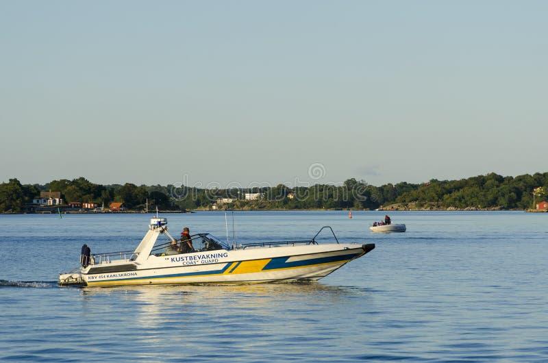 Szwedzka straży przybrzeżnej łódź motorowa fotografia stock