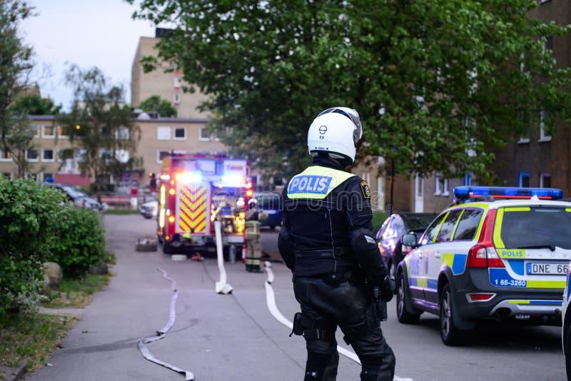 Szwedzki funkcjonariusz policji fotografia royalty free