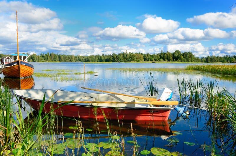 Szwedzki jezioro zdjęcie stock