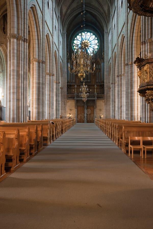 Szwedzki kościół wnętrze. obrazy royalty free