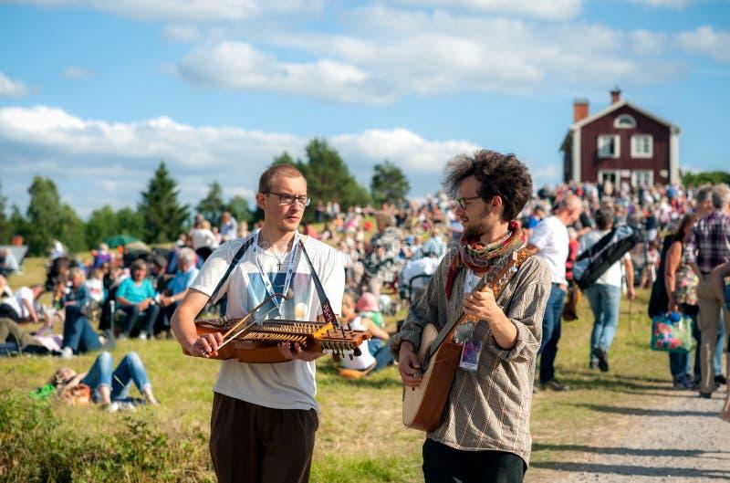 Szwedzki muzyka ludowa festiwal zdjęcie royalty free