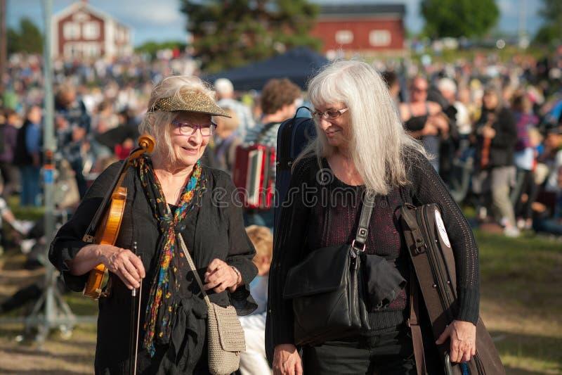 Szwedzki muzyka ludowa festiwal zdjęcia stock