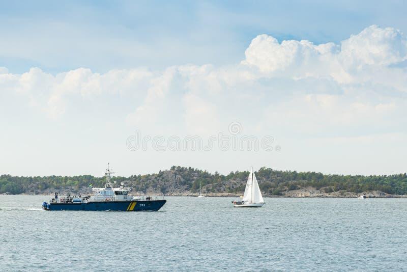 Szwedzki straży przybrzeżnej inwigilacji naczynie KBV313 trwający obrazy royalty free
