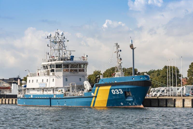 Szwedzki straży przybrzeżnej zanieczyszczenia Kontrolny naczynie KBV 033 zdjęcia royalty free