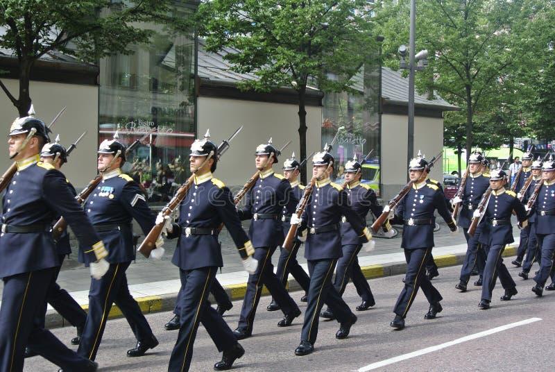 Szwedzki wojskowy zdjęcie stock