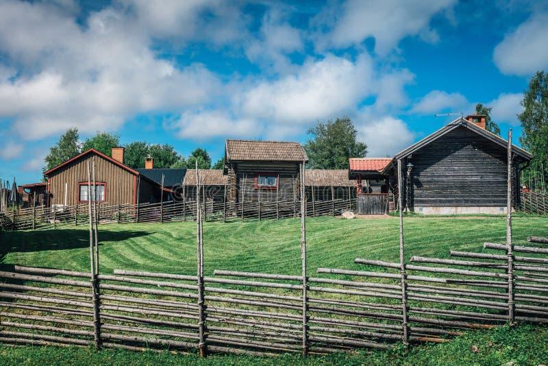 Szwedzki wzgórza gospodarstwo rolne zdjęcie royalty free