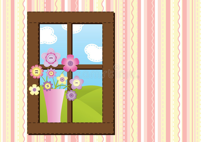szwy okno ilustracji
