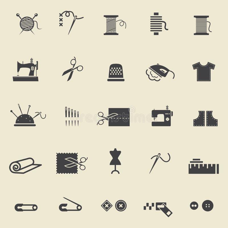 szyć ikon royalty ilustracja