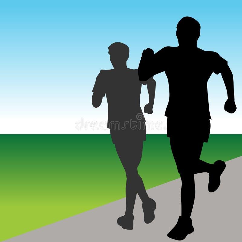 szybcy biegacze royalty ilustracja