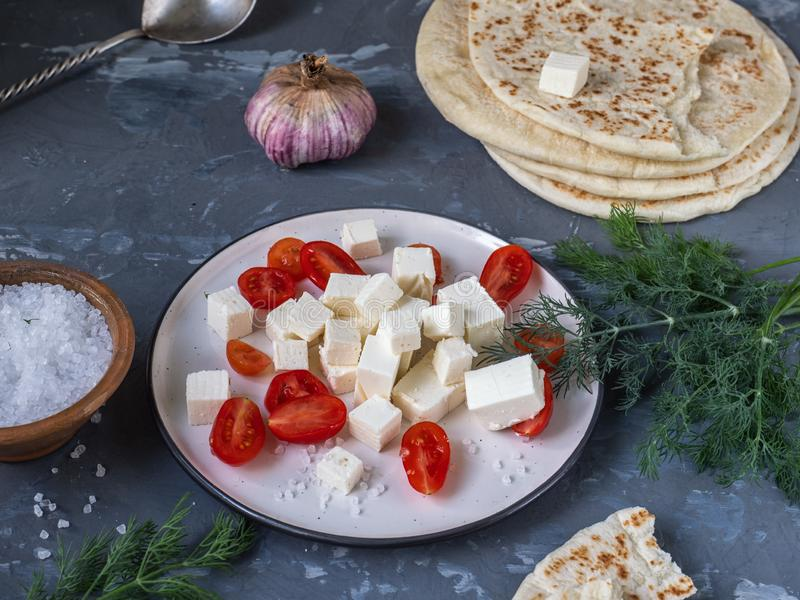 Szybka, łatwa przekąska ser i zdjęcie stock