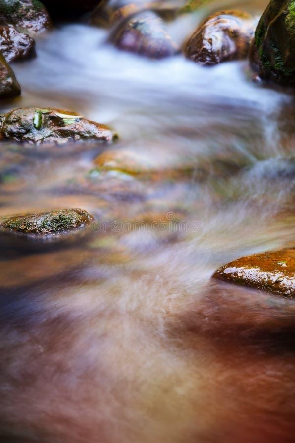 Szybka bieżąca woda w górze fotografia stock