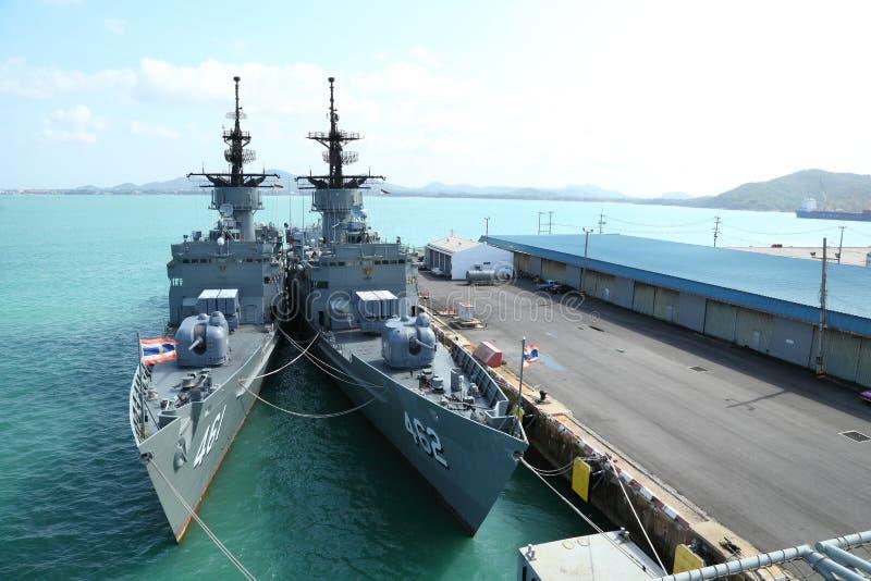 Szybka FREGATA, batalistyczny FF statek jest pokazywać obraz stock