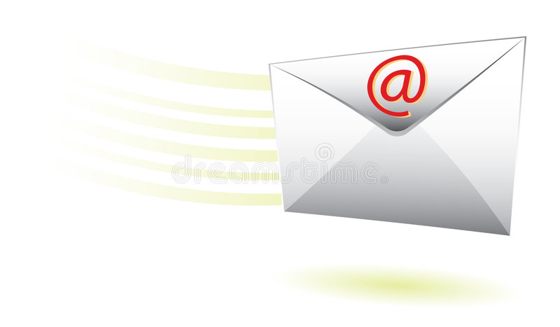 szybka pocztę royalty ilustracja