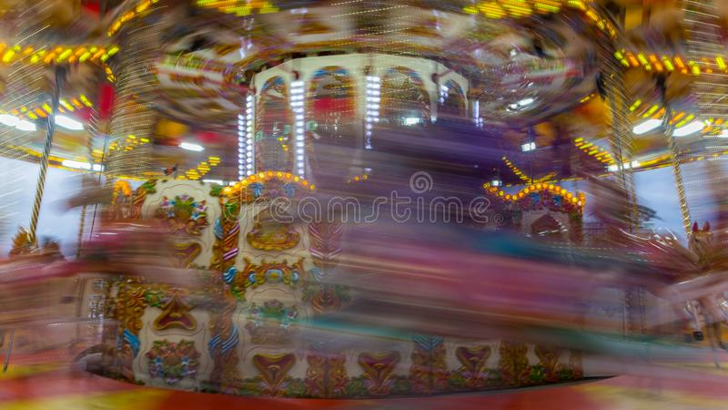 Szybka przejażdżka na carousel obrazy royalty free