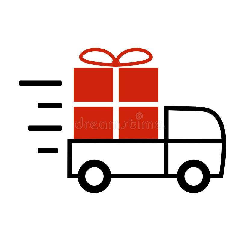 Szybka transportu, dostawy ikona dla i ilustracja wektor