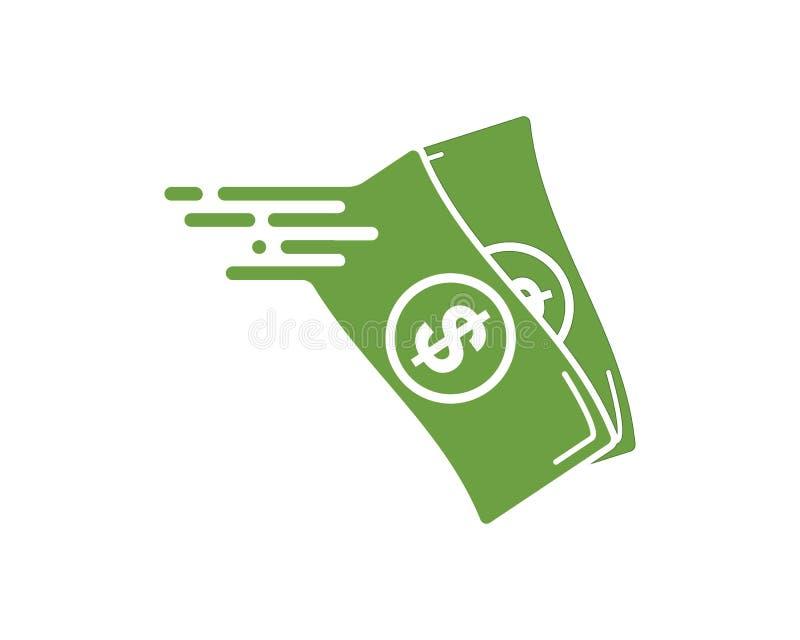 szybka wynagrodzenie logo ikony projekta ilustracja ilustracja wektor
