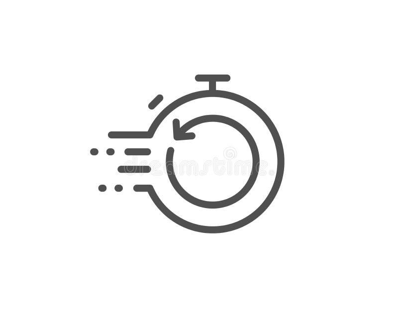 Szybka wyzdrowienie linii ikona Pomocniczy dane znak Przywrócić zegar wektor ilustracji