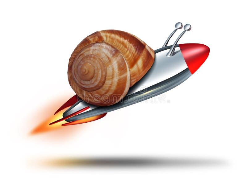 Szybki ślimaczek ilustracja wektor