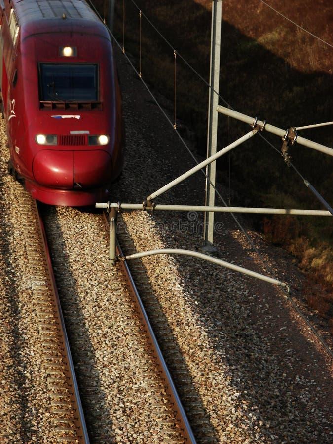 Szybki francuza tgv pociąg na closeview fotografia stock