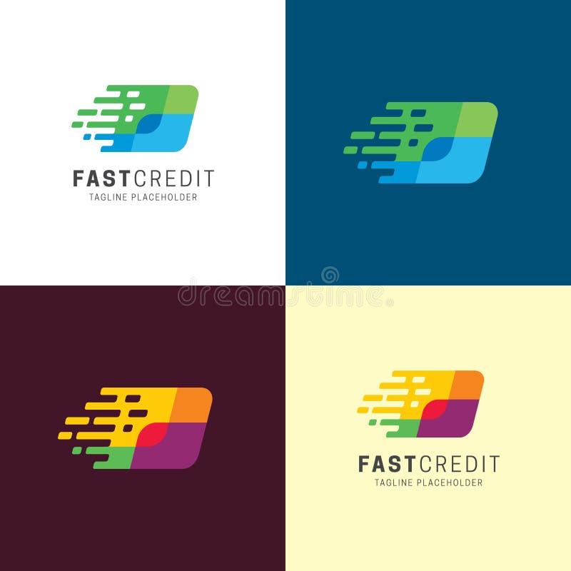 Szybki Kredytowy logo i ikona r?wnie? zwr?ci? corel ilustracji wektora ilustracja wektor