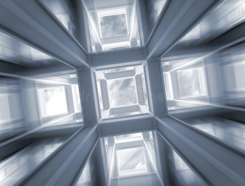 Download Szybki Lot Przez Abstrakcjonistycznej Budowy Niebo Ilustracji - Ilustracja złożonej z budowa, światło: 28971761