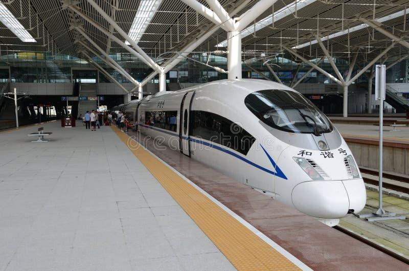 Szybki pociąg w Chiny obraz royalty free
