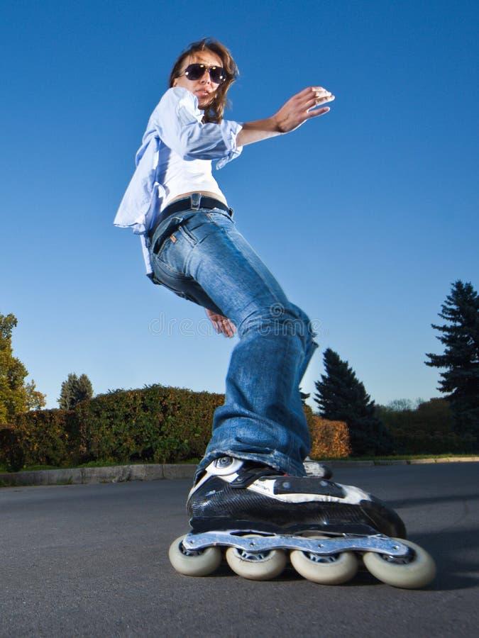 szybki rollerblading zdjęcia royalty free