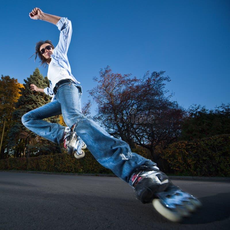 szybki rollerblading obraz royalty free