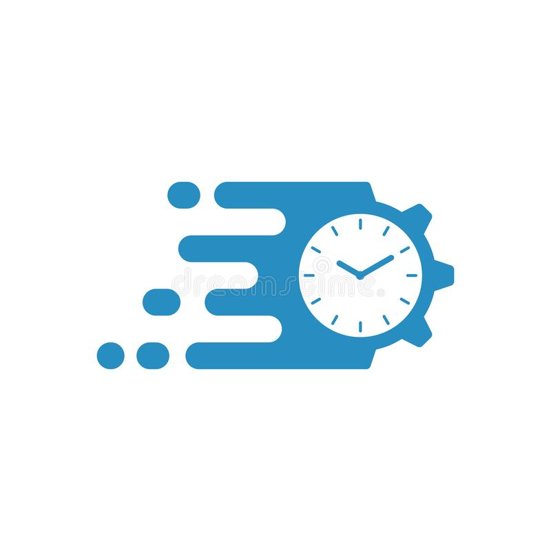 Szybkiego czasu zarządzanie ilustracja wektor
