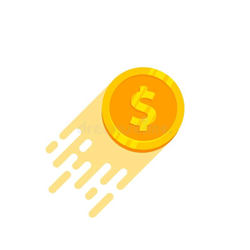 szybkiego pieniądze logo wektorowy projekt szybka pieniądze ikony ilustracja ilustracja wektor