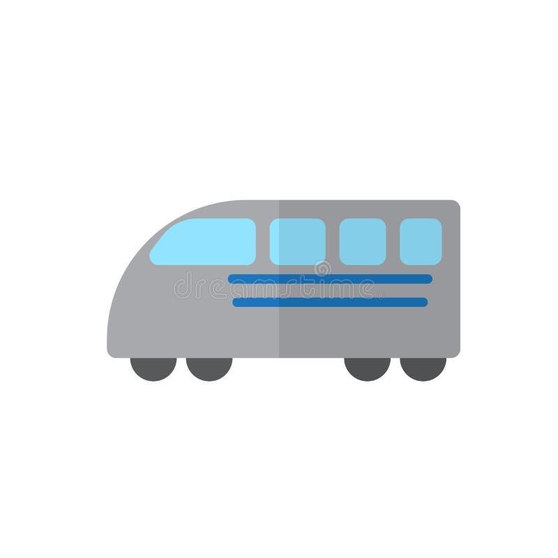 Szybkiego pociągu płaska ikona, wypełniający wektoru znak, kolorowy piktogram odizolowywający na bielu ilustracji