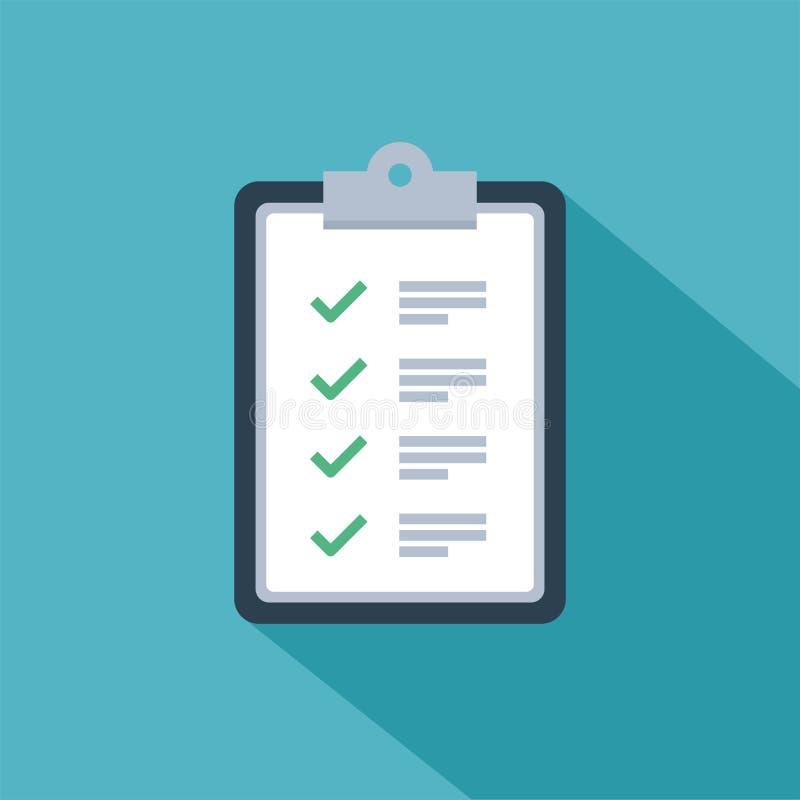 Szybkiej usługa wytyczne listy kontrolnej ankiety wektorowy projekt ilustracji