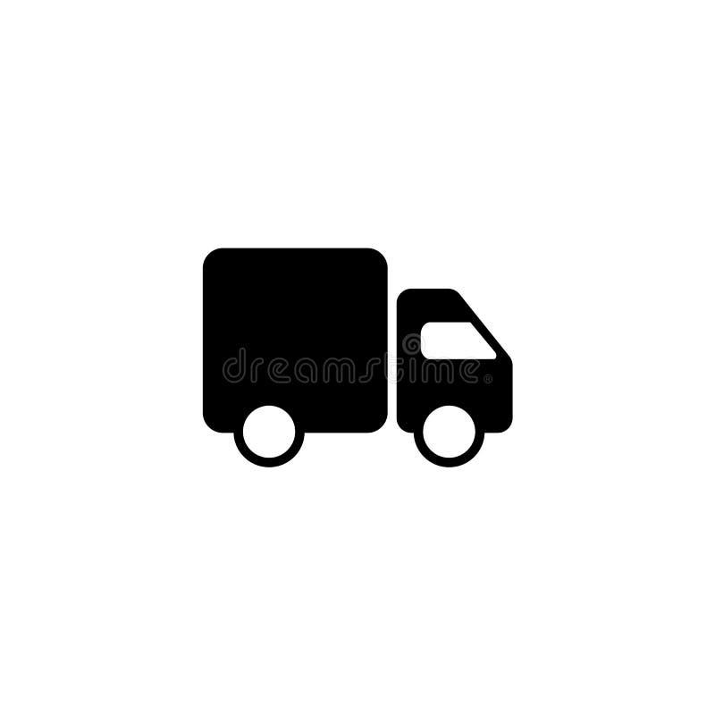Szybkiej wysyłki Doręczeniowa ciężarówka Kreskowy ikona projekt royalty ilustracja